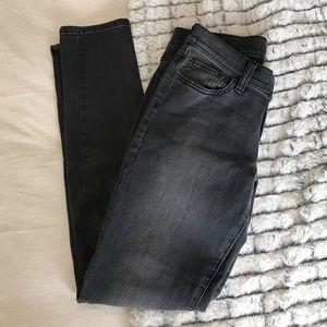Banana Republic skinny fit dark gray/black jeans